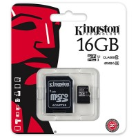 Tarjeta Micro SD 16GB Clase 10 Kingston