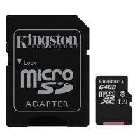 Tarjeta Micro SD 64GB Clase 10 Kingston 45Mb/s