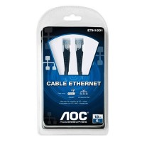 Cable de red 1.8 metros cat 5e marca AOC