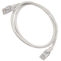 Cable de red 1 metro cat 5e RJ45 Lan Gris